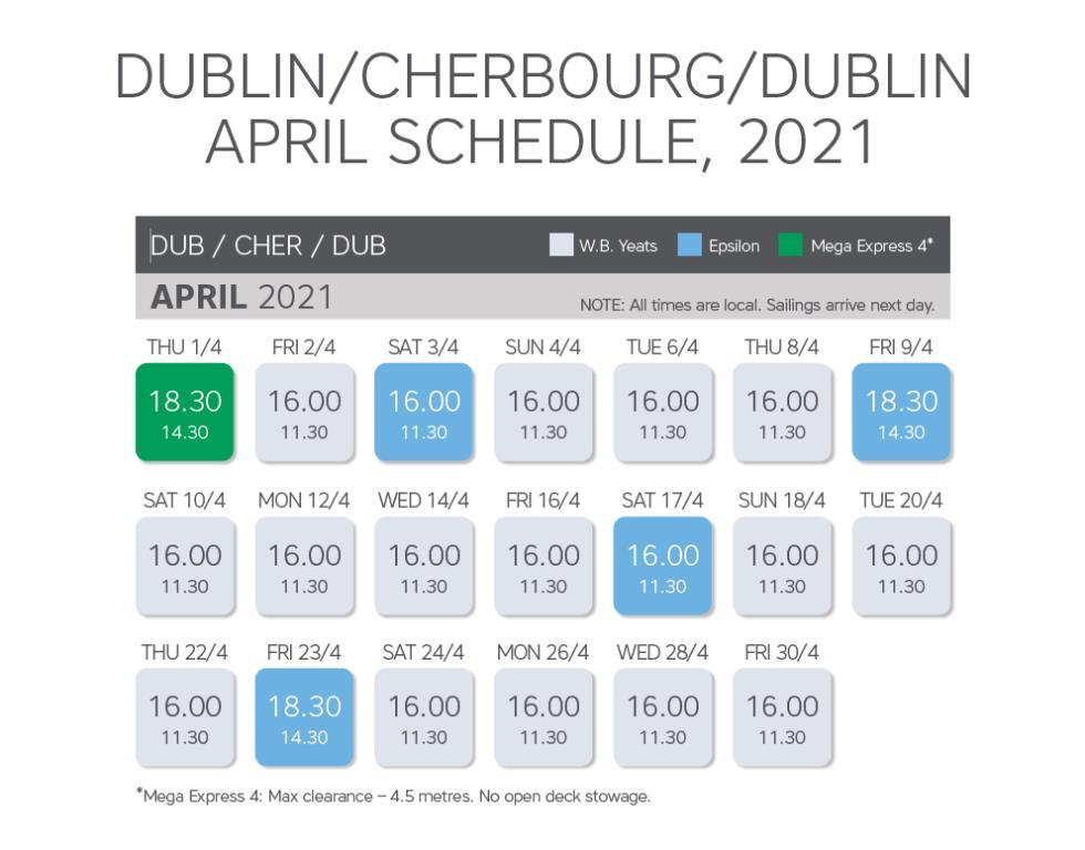 April 21 Time table 1