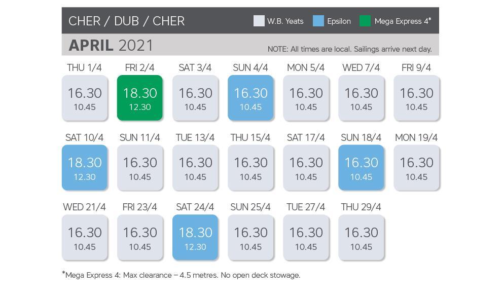 April 21 Timetable 2