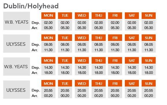 dublin holyhead timetable
