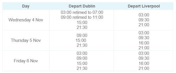 Liv - Dub Timetable